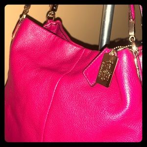 Madison Rouge pink leather Coach